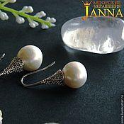 Украшения handmade. Livemaster - original item Pearl Yunis classic earrings with pearl AA. Handmade.
