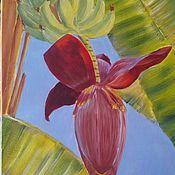 Картины и панно handmade. Livemaster - original item Painting Banana Flower oil on canvas. Handmade.