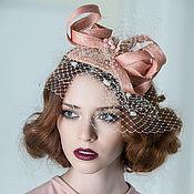 Свадебный салон ручной работы. Ярмарка Мастеров - ручная работа Бежевая шляпка-вуалетка. Handmade.