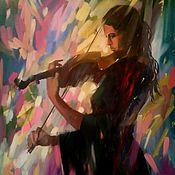 Картины и панно ручной работы. Ярмарка Мастеров - ручная работа Соло для скрипки. Handmade.
