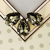 Материалы для творчества handmade. Livemaster - original item Premium Drop Crystals 18*13 Set Black Diamond Black Diamond. Handmade.