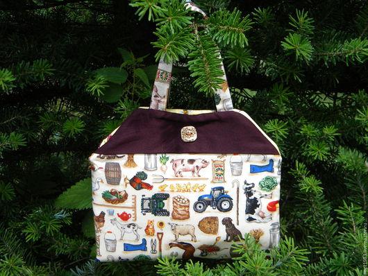 Кукольный дом ручной работы. Ярмарка Мастеров - ручная работа. Купить Ферма в сумочке.. Handmade. Комбинированный, игрушка из фетра