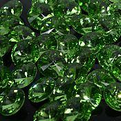 Кабошоны ручной работы. Ярмарка Мастеров - ручная работа риволи 14 мм светло зеленый. Handmade.