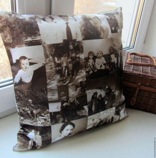 Персональные подарки ручной работы. Ярмарка Мастеров - ручная работа. Купить подушка с фото. Handmade. Комбинированный, подарок мужчине, фотография