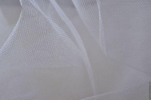 Вышивка ручной работы. Ярмарка Мастеров - ручная работа. Купить Сетка шелковая, Франция. Handmade. Белый, сетка, шелк 100%