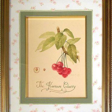 Картины и панно ручной работы. Ярмарка Мастеров - ручная работа Флорентийская вишня. Handmade.