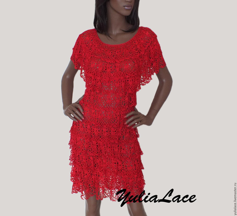 Купить Красное Платье Коктейльное Платье В