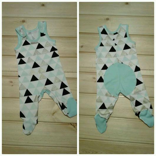 """Одежда унисекс ручной работы. Ярмарка Мастеров - ручная работа. Купить Слип """"треугольники"""". Handmade. Для новорожденных, одежда для детей"""