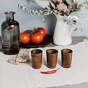 Посуда handmade. Livemaster - original item Set of wooden wine glasses (3#25. Handmade.