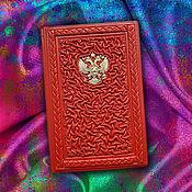 """Сумки и аксессуары handmade. Livemaster - original item Обложка на паспорт """"Ваше сиятельство"""" из натуральной кожи. Handmade."""