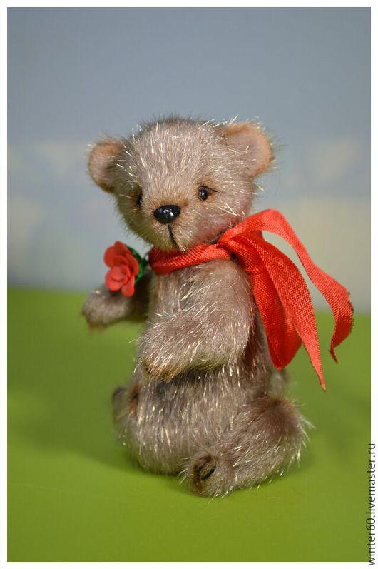 Мишки Тедди ручной работы. Ярмарка Мастеров - ручная работа. Купить Мишаня Аня. Handmade. Коричневый, подарок, пластика