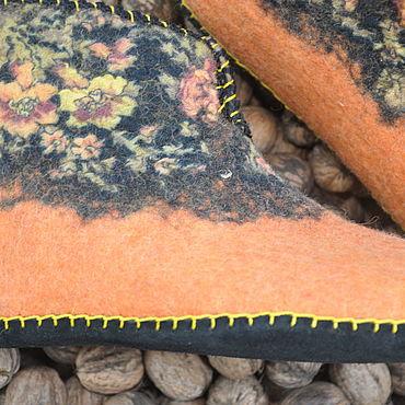 Обувь ручной работы. Ярмарка Мастеров - ручная работа Тапочки-чуни валяные. Handmade.