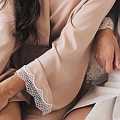 Халаты ручной работы. Ярмарка Мастеров - ручная работа Халатик с кружевом для дома и лучшего утра невесты. Handmade.