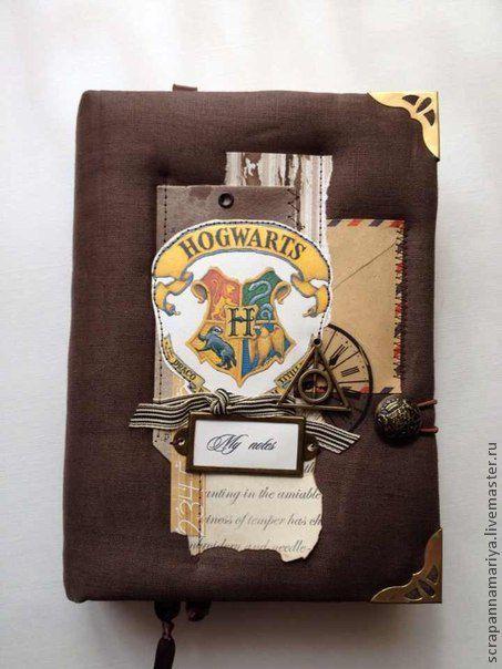 """Блокноты ручной работы. Ярмарка Мастеров - ручная работа. Купить Блокнот """"Гарри Поттер"""". Handmade. Коричневый, разделитель, наклейки"""