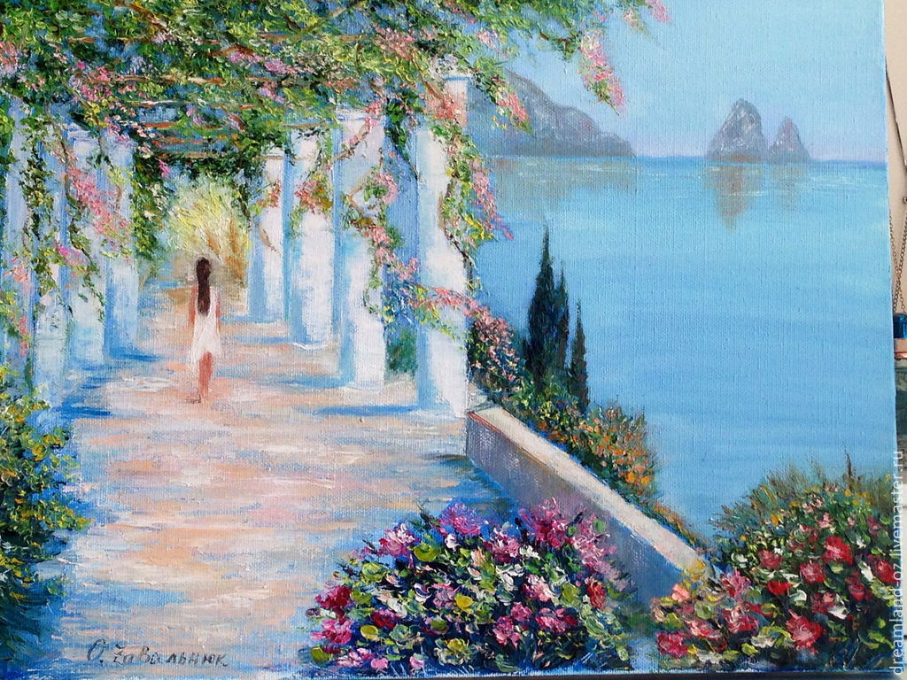 Oil painting 'Crimean vacation', Pictures, Vladivostok,  Фото №1