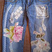 handmade. Livemaster - original item Boho jeans. Handmade.