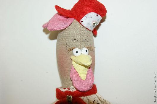 Игрушки животные, ручной работы. Ярмарка Мастеров - ручная работа. Купить Курочка Марфушка - новогодняя. Handmade. Ярко-красный, подарок