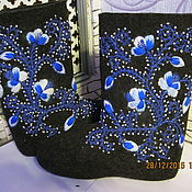Обувь ручной работы handmade. Livemaster - original item Valenki with embroidery. Handmade.
