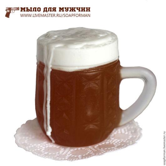 """Мыло ручной работы. Ярмарка Мастеров - ручная работа. Купить Мыло """"Большая кружка пива"""". Handmade. Черный, Новый Год"""