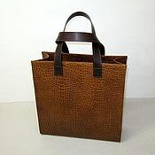 Сумки и аксессуары handmade. Livemaster - original item Bag-bag without lining made of natural form-resistant leather. Handmade.
