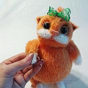 handmade. Livemaster - original item Kitty orange knitted soft toy gift. Handmade.