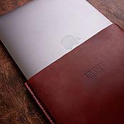 Классическая сумка ручной работы. Ярмарка Мастеров - ручная работа Кожаный чехол Kuga на ноутбук. Handmade.
