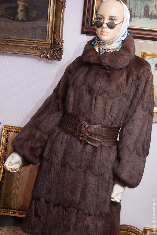 Верхняя одежда ручной работы. Ярмарка Мастеров - ручная работа. Купить Свингер  колор чоко, колонок, размер универсальный. Handmade.