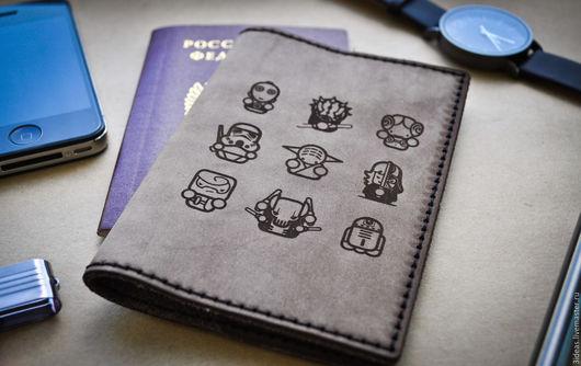 Обложки ручной работы. Ярмарка Мастеров - ручная работа. Купить Обложка для паспорта из натуральной кожи. Handmade. Обложка на паспорт, кожа