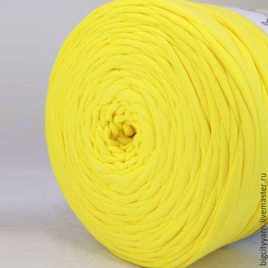 Вязание ручной работы. Ярмарка Мастеров - ручная работа. Купить Трикотажная пряжа. Цвет - Желтый. Handmade. Пряжа для вязания