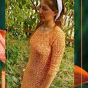 Одежда ручной работы. Ярмарка Мастеров - ручная работа Ажурное платье крючком Лилия Тигровая. Handmade.