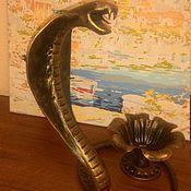 Для дома и интерьера ручной работы. Ярмарка Мастеров - ручная работа подсвечник кобра. Handmade.
