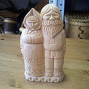 Подарки к праздникам handmade. Livemaster - original item Figurine wooden. Figurines made of wood. my grandparents. Handmade.