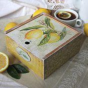 """Для дома и интерьера ручной работы. Ярмарка Мастеров - ручная работа Короб """"Чай с лимоном"""". Handmade."""