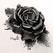 """Украшения ручной работы. Ярмарка Мастеров - ручная работа роза """"Black"""". Handmade."""