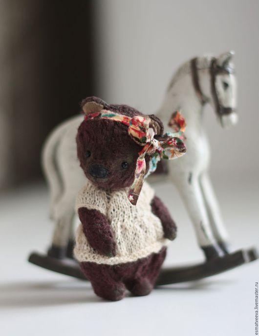 Мишки Тедди ручной работы. Ярмарка Мастеров - ручная работа. Купить Наоми. Handmade. Коричневый, тедди, миник, металлический гранулят