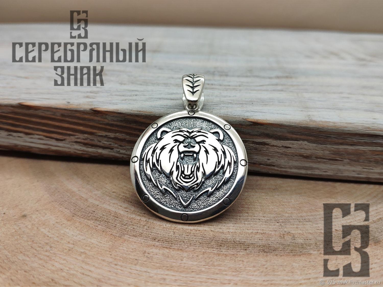 Seal of Velez with a Bear Shield. Russian Power. Silver 925 art.1033304, Pendants, St. Petersburg,  Фото №1