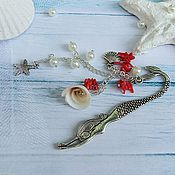 Канцелярские товары handmade. Livemaster - original item Bookmark mermaid Sea breeze. Handmade.
