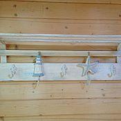 """Для дома и интерьера ручной работы. Ярмарка Мастеров - ручная работа Вешалка """"У самого синего моря"""". Handmade."""