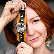 Украшения handmade. Livemaster - original item Glory yellow mechanical transparent wrist watch. Handmade.