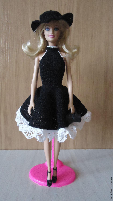 Черное платье для кукол своими руками