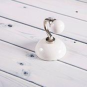 Для дома и интерьера ручной работы. Ярмарка Мастеров - ручная работа Керамический крючок белый. Handmade.