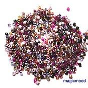 Материалы для творчества handmade. Livemaster - original item 5 g 11/0 Delica MIX 18 vineyard Japanese seed beads Miyuki. Handmade.