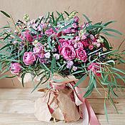 Букеты ручной работы. Ярмарка Мастеров - ручная работа Букет из живых цветов Сиренево - розовый. Handmade.