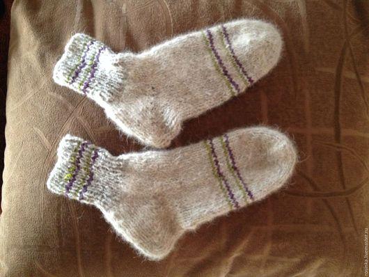 Носки, Чулки ручной работы. Ярмарка Мастеров - ручная работа. Купить Носки. Handmade. Теплые, однотонный, собачья шерсть