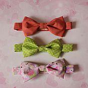 Аксессуары ручной работы. Ярмарка Мастеров - ручная работа Бабочка-галстук детская на липучке. Handmade.