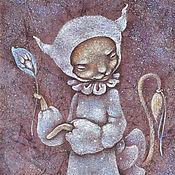 Картины и панно ручной работы. Ярмарка Мастеров - ручная работа Картина кошка. Миссис Китти на прогулке.. Handmade.