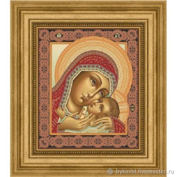 Схема на сатине Корсунская икона Божией Матери, Схемы для вышивки, Щелково,  Фото №1