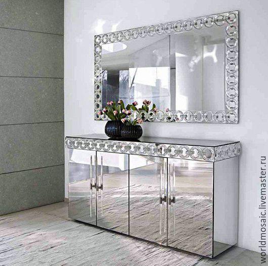 Мебель ручной работы. Ярмарка Мастеров - ручная работа. Купить Комод зеркальный. Handmade. Серебряный, комод, зеркало, зеркальный, дерево