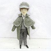 Куклы и игрушки ручной работы. Ярмарка Мастеров - ручная работа Шерлок Холмс – текстильная кукла, персонаж. Handmade.