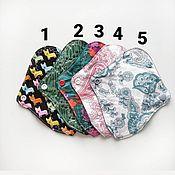 Белье ручной работы. Ярмарка Мастеров - ручная работа Ежедневная прокладка 17 см на флисе женская многоразовая нежность. Handmade.